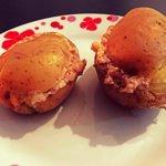 Pommes de terre farcies au jambon