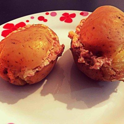 Recette pommes de terre farcies au jambon