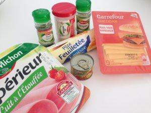 Recette roules aux tomates et au jambon