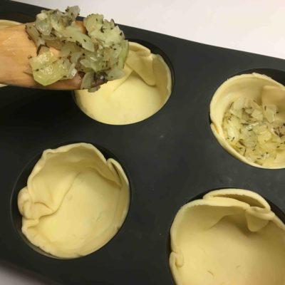 Recette tartelettes feta oignons