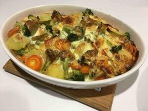 Recette gratin aux legumes