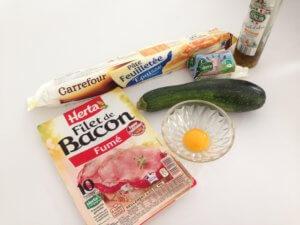 Recette roules aux courgettes et bacon