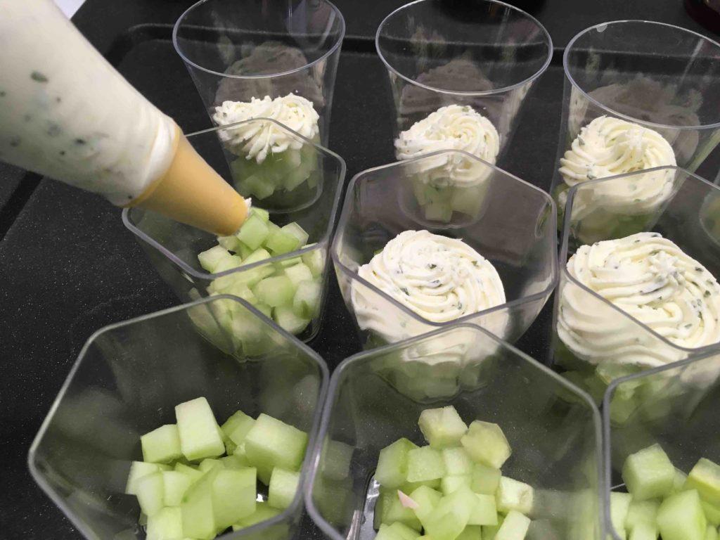 Recette verrines au tartare jambon et concombre