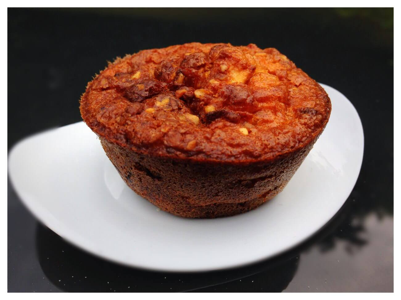 Muffins pommes chocolat et noisettes