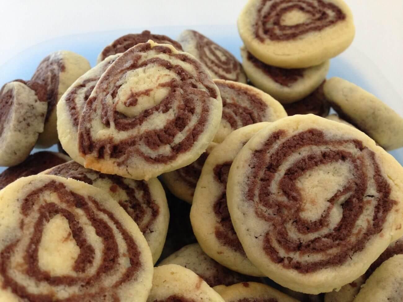 Biscuits escargot chocolat vanille