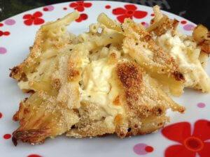 Recette gratin de macaronis au chaource