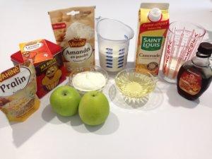 Recette moelleux pommes amandes erable