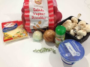 Recette gratin de pommes de terre aux champignons