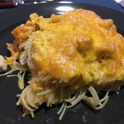 Recette-gratin-de-pates-poulet-et-cheddar