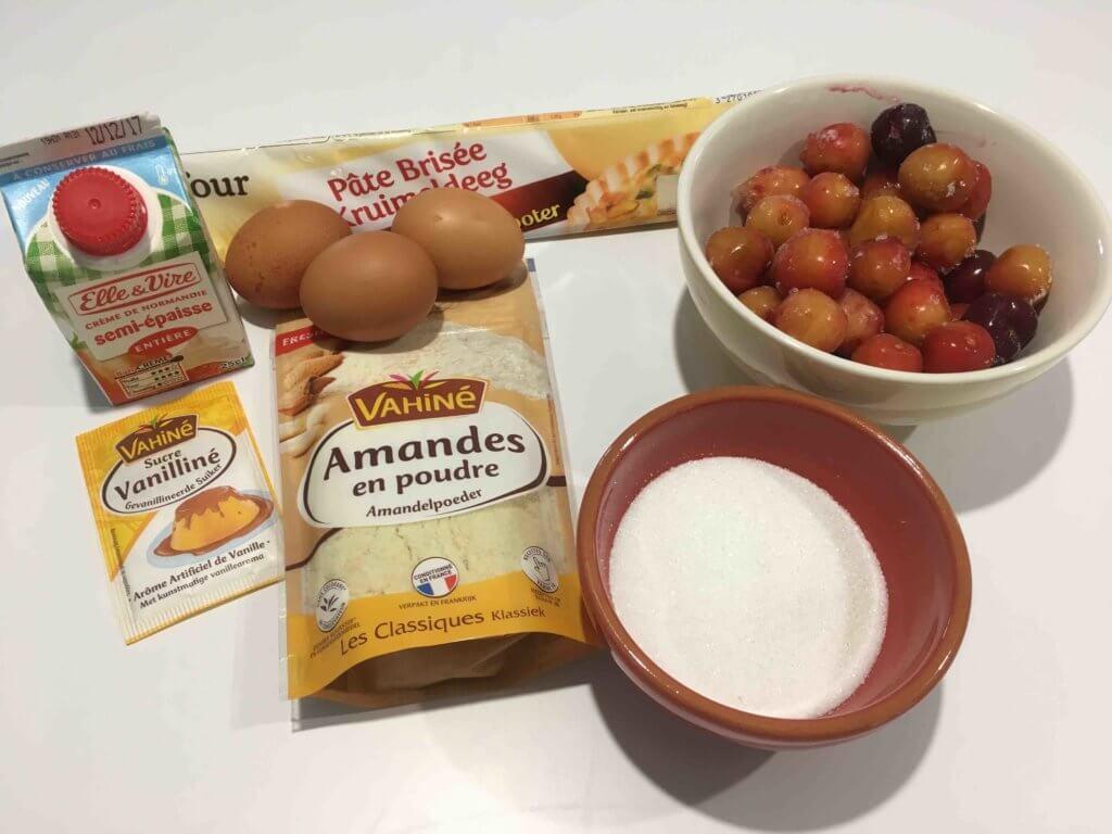 Recette tarte aux cerises et aux amandes