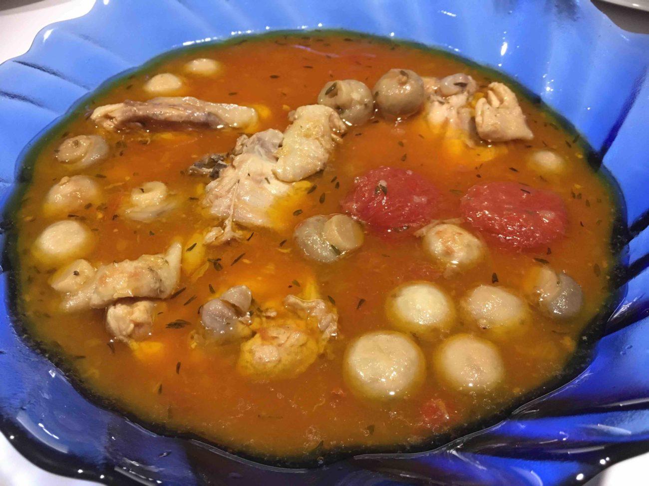 Poulet à la tomate et aux champignons