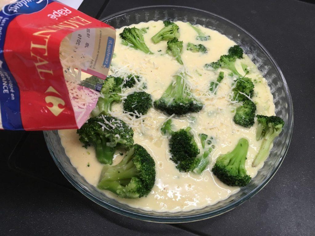 Recette quiche sans pâte aux brocolis