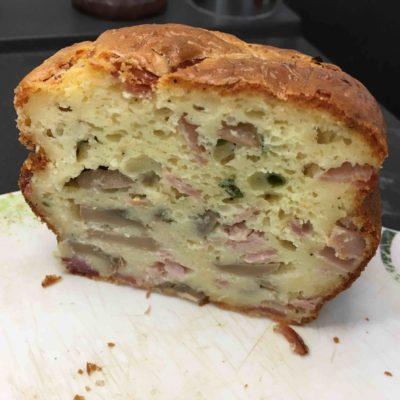 Recette-cake-au-jambon-et-aux-champignons-de-paris