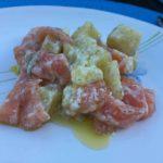 Salade de pomme de terre et de saumon