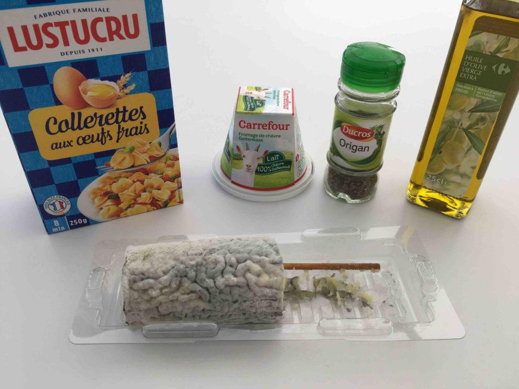 Recette-gratin-de-collerettes-aux-2-chevres-et-origan