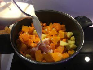 Recette veloute de potiron et carottes