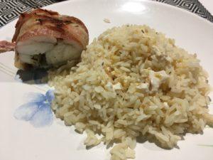 Recette rôti de lotte au lard et beurre de thym
