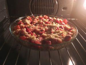 Gâteau crumble aux fraises