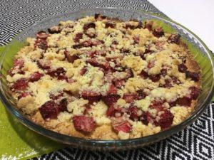 Recette gâteau crumble aux fraises