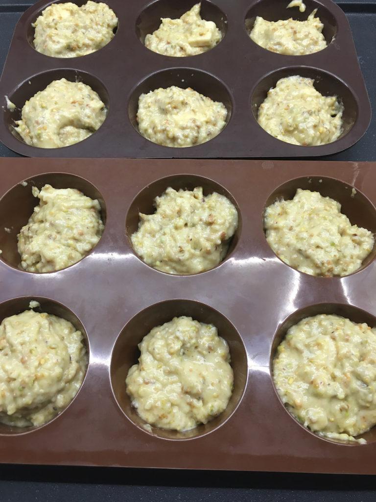 Recette muffins aux pistaches et au chocolat blanc